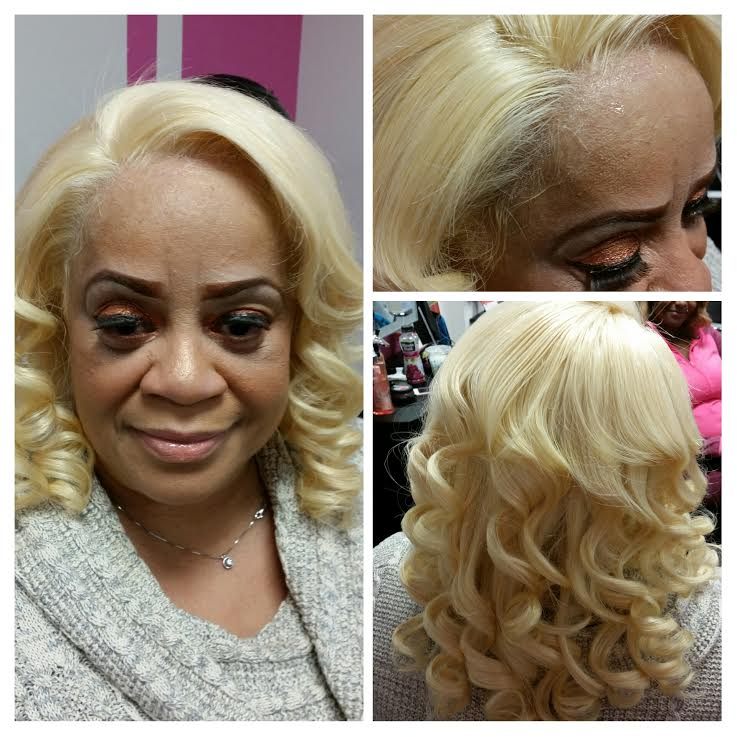 360 Lace Frontal Blonde Installation