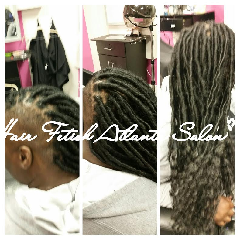 Faux Locs with Fade