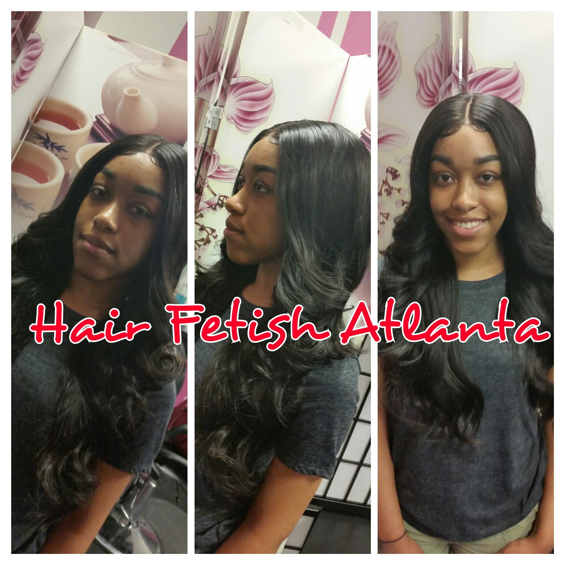 Middle Part Frontal Sew In Hair Fetish Atlanta Salon