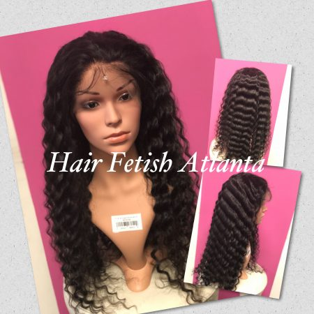 Full Lace Wigs Deep Wavy Installation