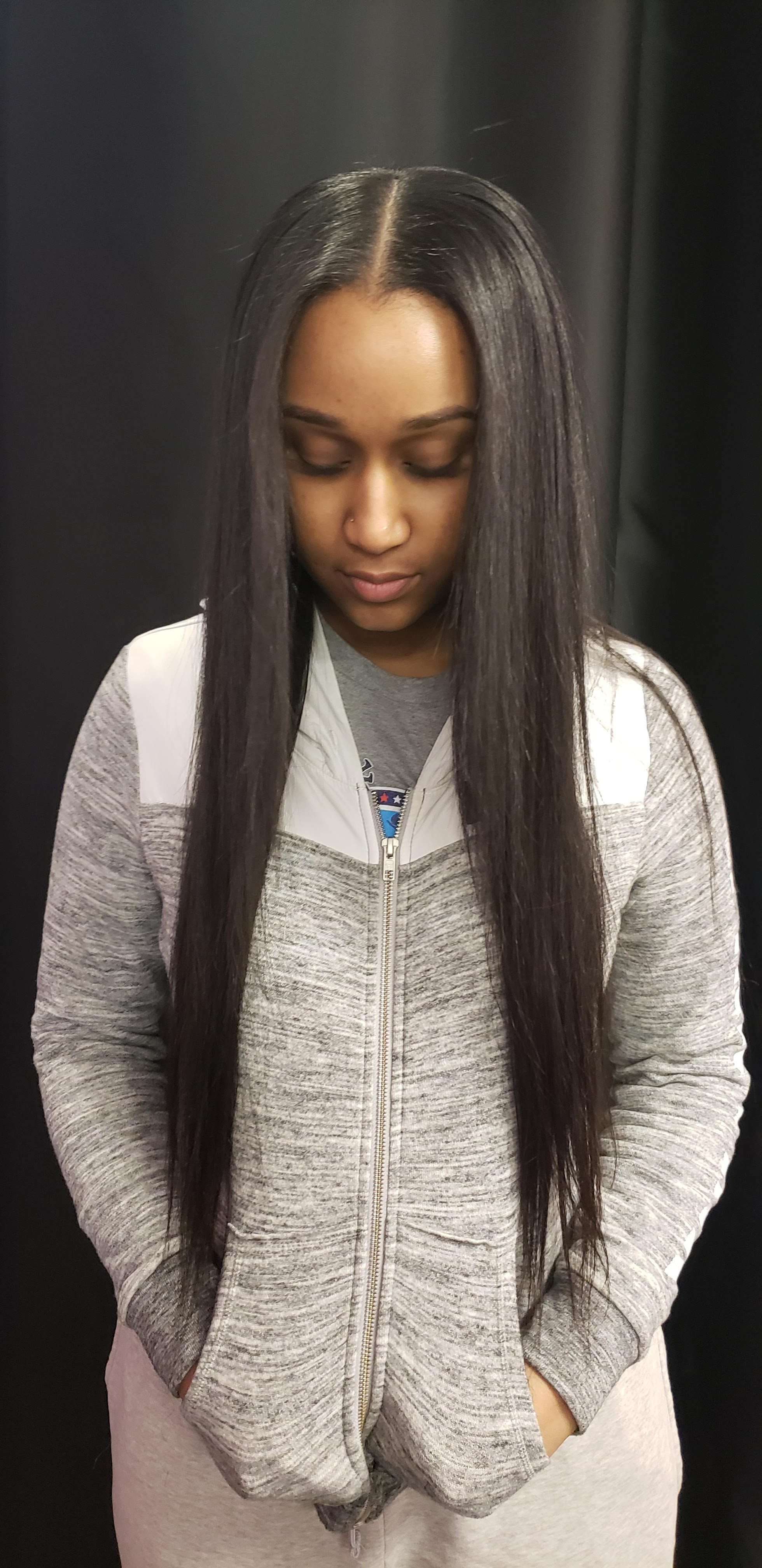 $50 Traditional Middle Part Sew In